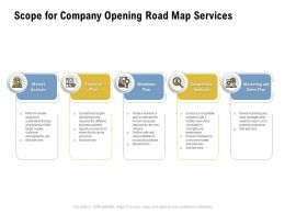Scope For Company Opening Road Map Services Ppt Powerpoint Presentation Styles Outfit