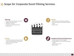 Scope For Corporate Event Filming Services Ppt Templates