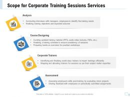 Scope For Corporate Training Sessions Services Ppt Ideas