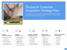 Scope For Customer Acquisition Strategy Plan Lead Ppt Powerpoint Icon Ideas