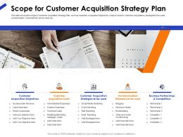 Scope For Customer Acquisition Strategy Plan Ppt Powerpoint Gallery Portfolio