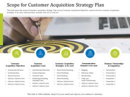 Scope For Customer Acquisition Strategy Plan Sale Ppt Powerpoint Ideas Slide