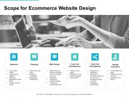 Scope For Ecommerce Website Design Ppt Powerpoint Presentation Slides