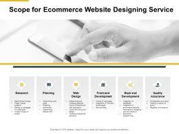 Scope For Ecommerce Website Designing Service Planning Presentation Slides