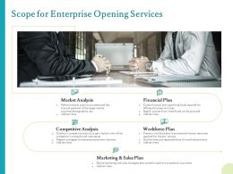 Scope For Enterprise Opening Services Ppt Powerpoint Presentation Icon Visual