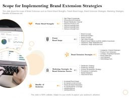 Scope For Implementing Brand Extension Strategies Image Ppt Powerpoint Presentation Styles Brochure
