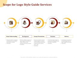 Scope For Logo Style Guide Services Ppt Powerpoint Presentation Icon Background
