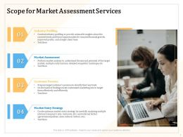 Scope For Market Assessment Services Ppt Powerpoint Presentation Icon Designs