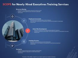 Scope For Newly Hired Executives Training Services Ppt Powerpoint Presentation Slides Download