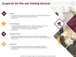 Scope For On The Job Training Services Ppt Powerpoint Presentation Templates