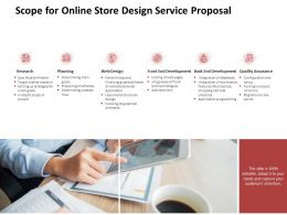 Scope For Online Store Design Service Proposal Ppt Powerpoint Presentation Topics