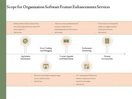 Scope For Organization Software Feature Enhancements Services Ppt Powerpoint Presentation Tips