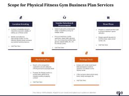 Scope For Physical Fitness Gym Business Plan Services Ppt File Formats
