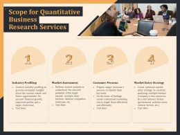 Scope For Quantitative Business Research Services Ppt File Aids