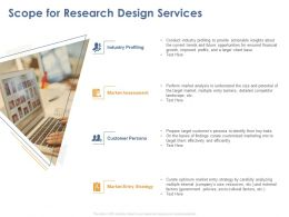 Scope For Research Design Services Ppt Powerpoint Presentation Gallery Guidelines