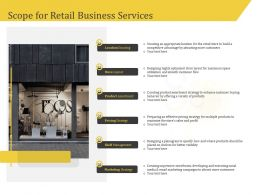 Scope For Retail Business Services Pricing Ppt Icon