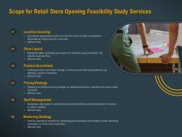 Scope For Retail Store Opening Feasibility Study Services Ppt Powerpoint Image