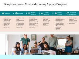 Scope For Social Media Marketing Agency Proposal Ppt Powerpoint Presentation Model Design