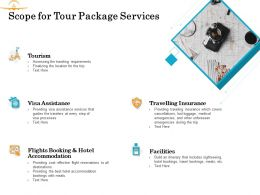 Scope For Tour Package Services Ppt Powerpoint Presentation Icon Slides