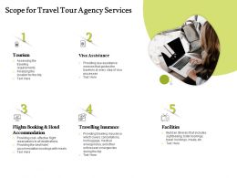 Scope For Travel Tour Agency Services Ppt Powerpoint Presentation File Formats