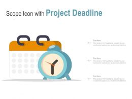 Scope Icon With Project Deadline