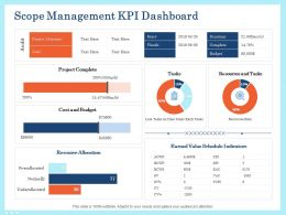 Scope Management Kpi Dashboard Complete Ppt Graphic Tips
