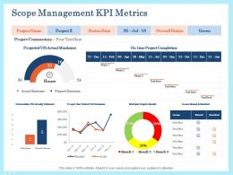 Scope Management Kpi Metrics Project Ppt Powerpoint Presentation Styles
