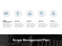 Scope Management Plan Ppt Powerpoint Presentation Portfolio Templates Cpb