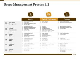 Scope Management Process Traceability Matrix Ppt Powerpoint Presentation Model Influencers