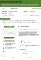 Scope Of Appointment One Pager Presentation Report Infographic PPT PDF Document