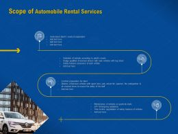 Scope Of Automobile Rental Services Assign Qualified Ppt Powerpoint Presentation Files