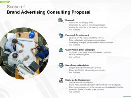 Scope Of Brand Advertising Consulting Proposal Ppt Powerpoint Presentation File