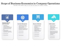 Scope Of Business Economics In Company Operations