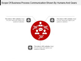 Scope Of Business Process Communication Shown By Humans And Gears