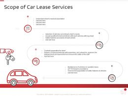 Scope Of Car Lease Services Ppt Powerpoint Presentation Infographic Template