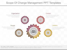 Scope Of Change Management Ppt Templates