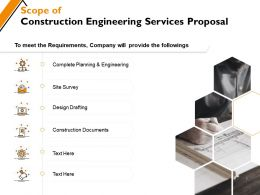 Scope Of Construction Engineering Services Proposal Ppt Powerpoint Presentation Gallery Inspiration