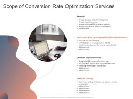 Scope Of Conversion Rate Optimization Services Ppt Powerpoint Presentation Icon Guidelines