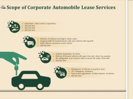 Scope Of Corporate Automobile Lease Services Ppt File Display