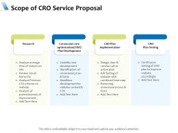 Scope Of CRO Service Proposal Ppt Powerpoint Presentation Professional Structure