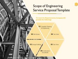 Scope Of Engineering Service Proposal Template Ppt Powerpoint Presentation Show
