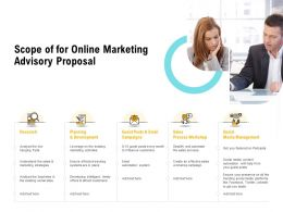 Scope Of For Online Marketing Advisory Proposal Ppt Powerpoint Microsoft