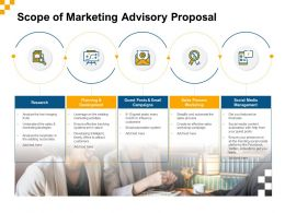 Scope Of Marketing Advisory Proposal Ppt Powerpoint Presentation Example