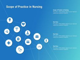 Scope Of Practice In Nursing Ppt Powerpoint Presentation Icon Grid