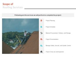 Scope Of Roofing Services Ppt Powerpoint Presentation Layouts Clipart