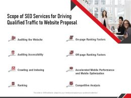 Scope Of SEO Services For Driving Qualified Traffic To Website Proposal Ppt Professional Graphics