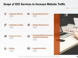 Scope Of SEO Services To Increase Website Traffic Ppt Powerpoint Themes