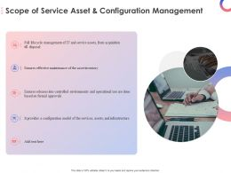 Scope Of Service Asset And Configuration Management Ppt Powerpoint Presentation Visual