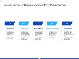 Scope Of Service For Business Card And Flyer Design Services Ppt Gallery