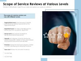 Scope Of Service Reviews At Various Levels